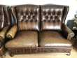 Canapé + 2 fauteuils style anglais- cuir capitonné - chester Meubles
