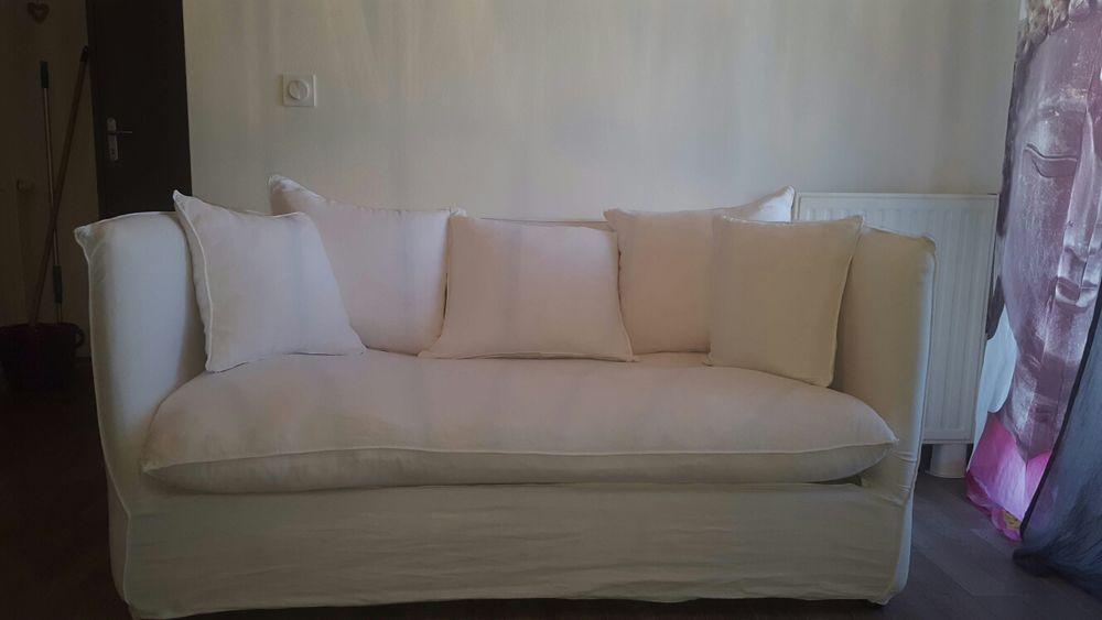 canapé fixe 3places blanc Maisons du Monde 320 Argelès-sur-Mer (66)