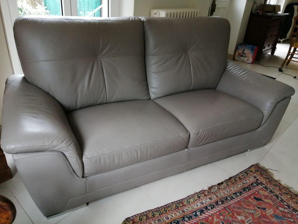 Canapé gris en cuir 350 Meudon (92)