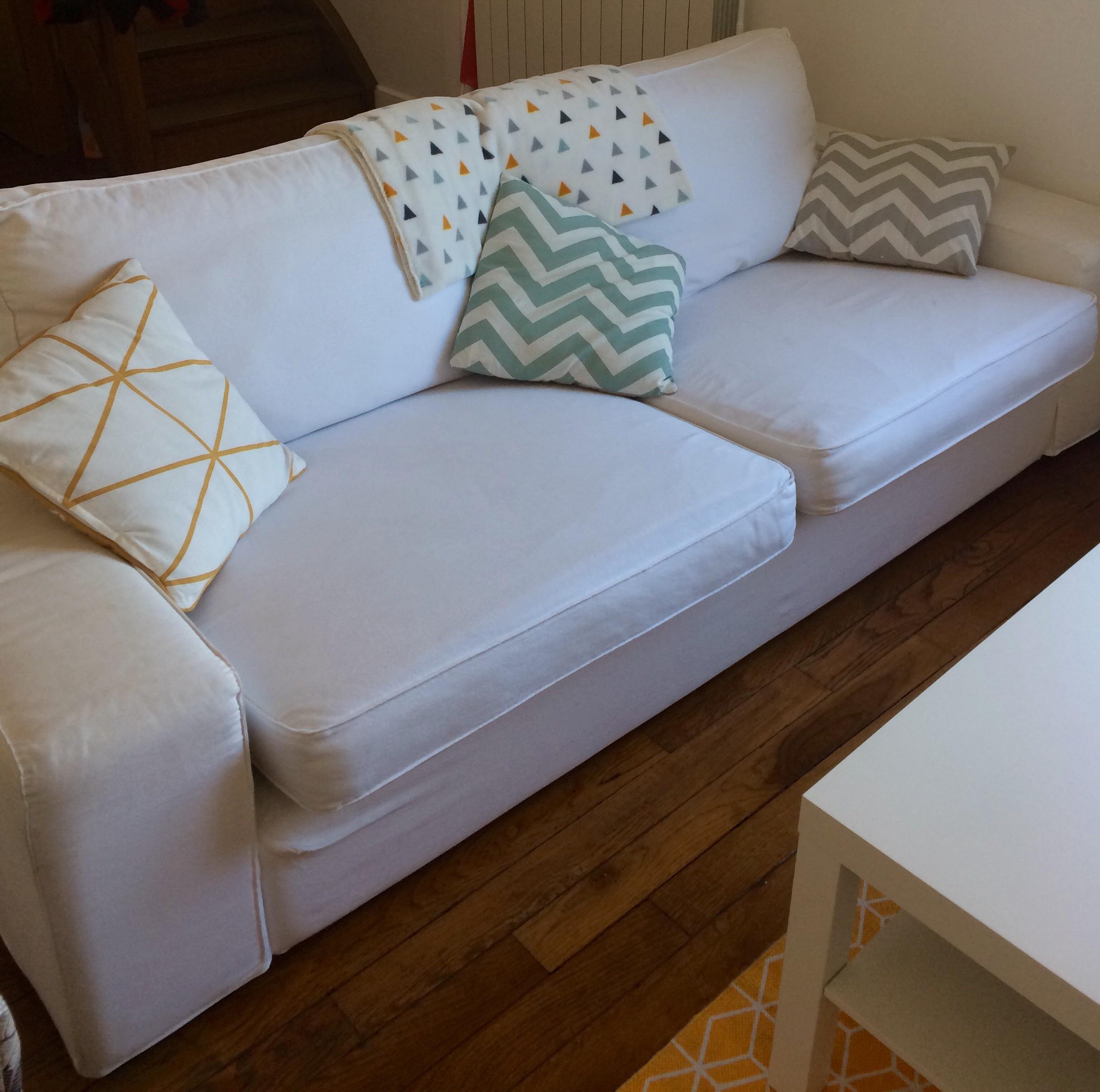 Achetez canap ikea blanc 3 occasion annonce vente sartrouville 78 wb154887676 - Ikea canape pla ces converteerbare ...
