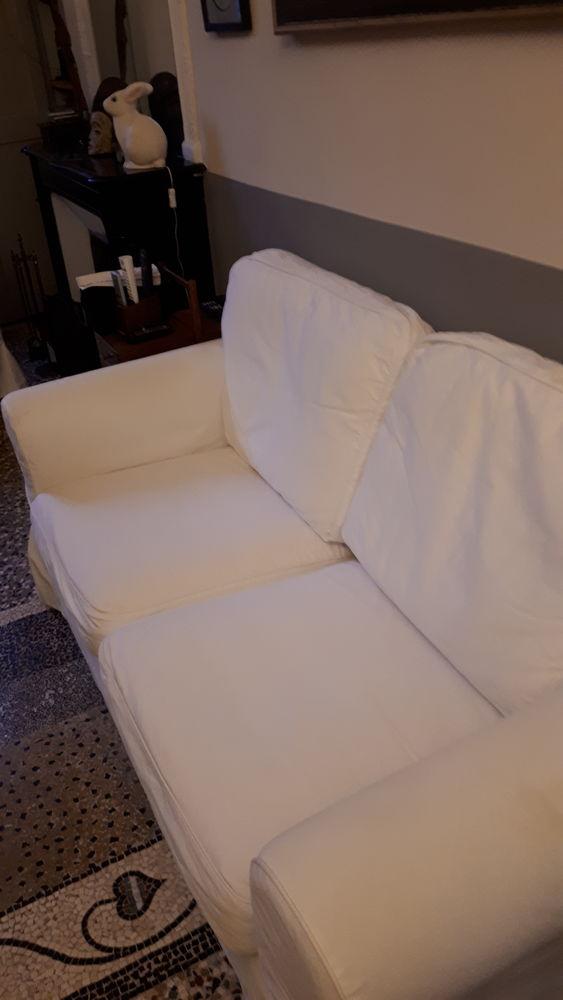 Canapé Ikea, blanc, entièrement déhoussable. 130 Nîmes (30)