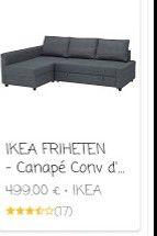 canapé IKEA NEUF!!!!!! 390 Douai (59)