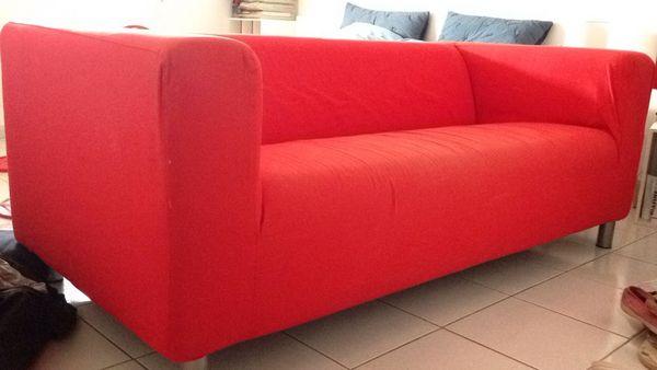 Achetez canap klippan rouge occasion annonce vente for Canape klippan