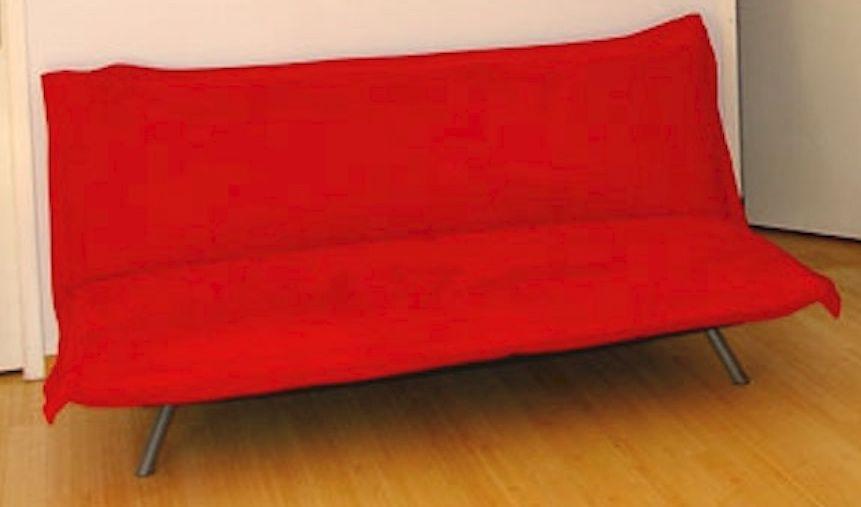 Canapé en microfibre rouge 0 Brignon (30)