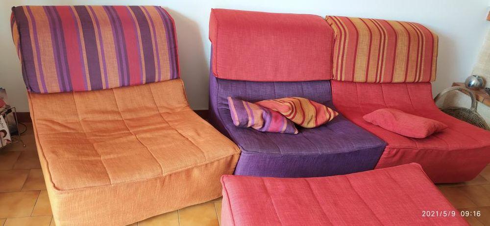 Canapé modulable 3 fauteuils + 1 pouf Château d'AX 2700 Gardanne (13)