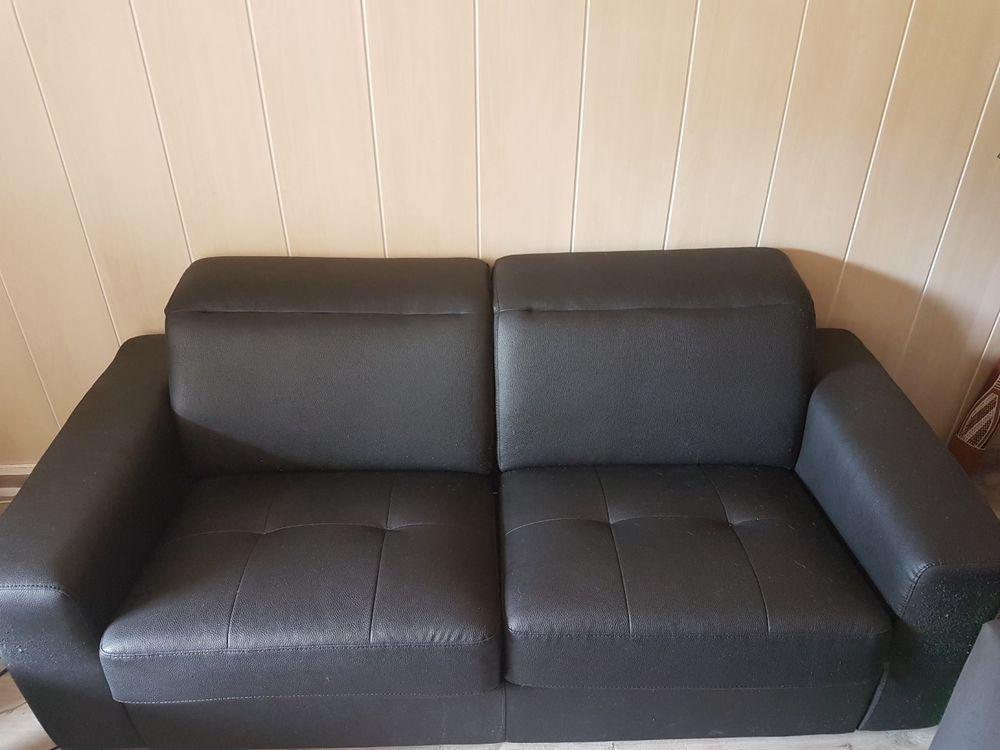 Canapé lit noir 180*136 450 Créteil (94)