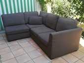 Canapé 4 places avec chauffeuse d'angle.  500 Pau (64)