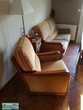 Canapé 2/3 places avec deux fauteuils marque J.Leleu 450 Bassillac (24)