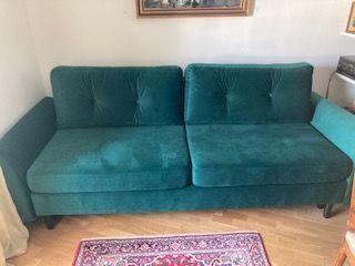 canapé-lit 2 places - avec accoudoirs  -  en tissu velours  0 Saint-Jean-de-Luz (64)
