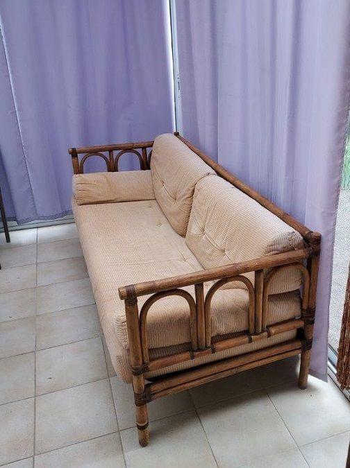Canapé 3 places, en bambou et rotin 350 Saint-Orens-de-Gameville (31)