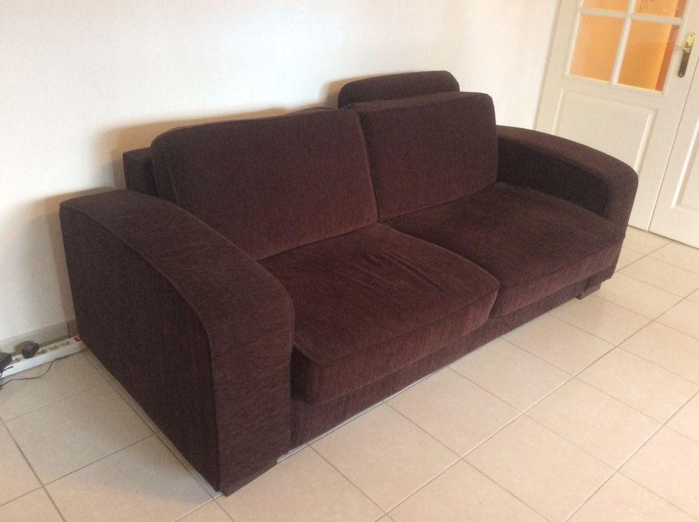 Canapé 3 places convertible en tissu avec 1 fauteuil assorti 300 Chens-sur-Léman (74)