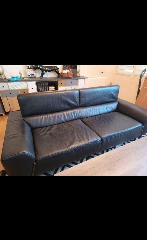 Canapé 3 places en cuir 300 Mont-de-Marsan (40)