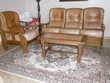 Canapé 3 places et fauteuil en cuir Meubles