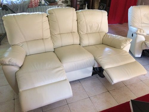 CANAPE 3 PLACES + 1 FAUTEUIL CUIR  900 Plouray (56)