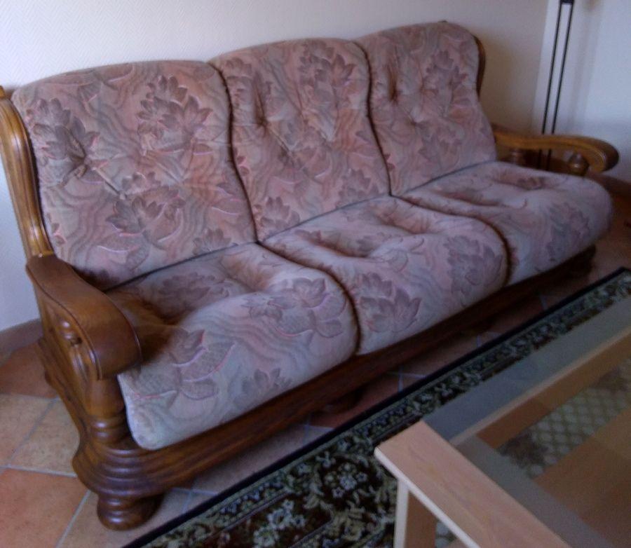 Canapé 3 places + 2 fauteuils 500 Hourtin (33)