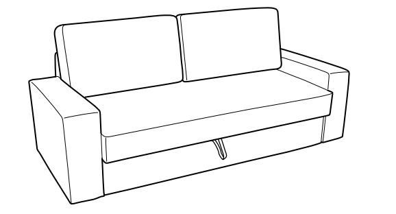 Canapé-lit 3 places IKEA VILASUND 389 Saint-Cloud (92)