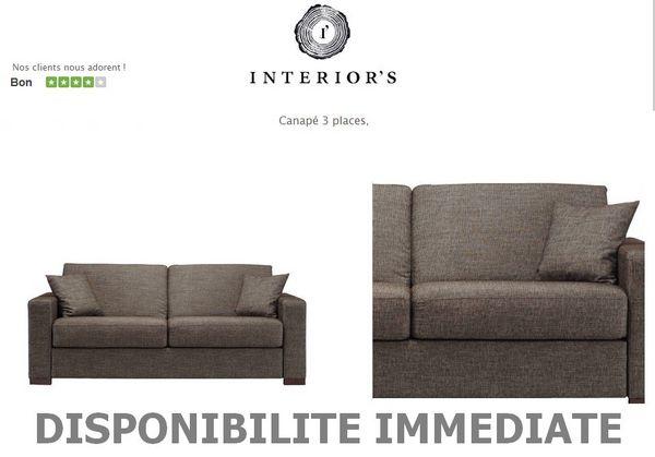 Achetez canape 3 places occasion annonce vente roquevaire 13 wb150236467 - Canape interiors occasion ...