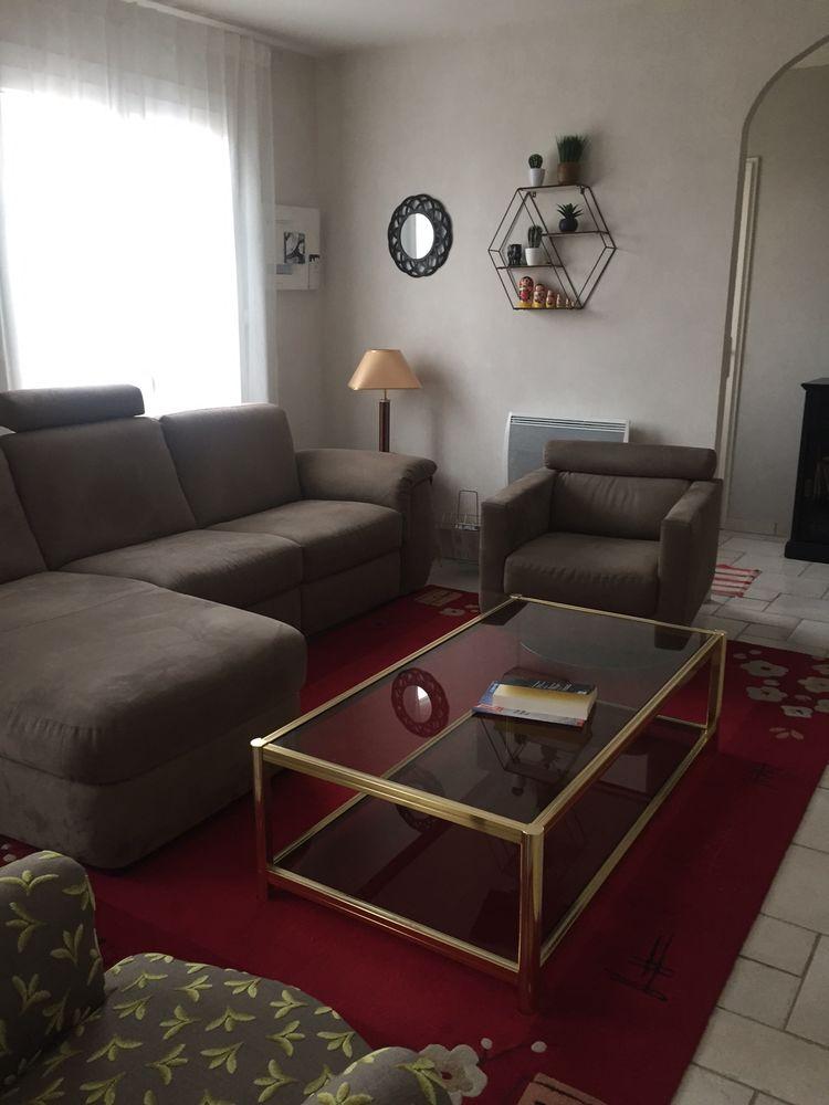 canapé 2 places + méridienne et fauteuil assorti (pivotant) 0 Talant (21)