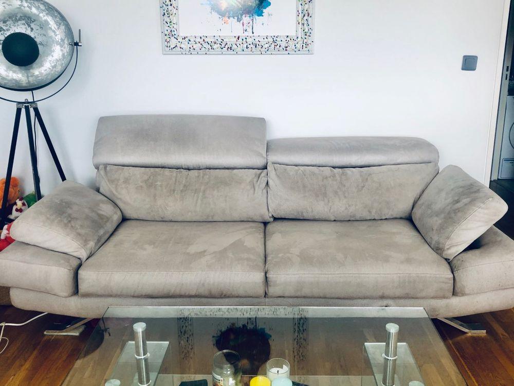 Canape 3 places en MICROFRIBRE - Poltrone Sofa - Bon état 0 Puteaux (92)
