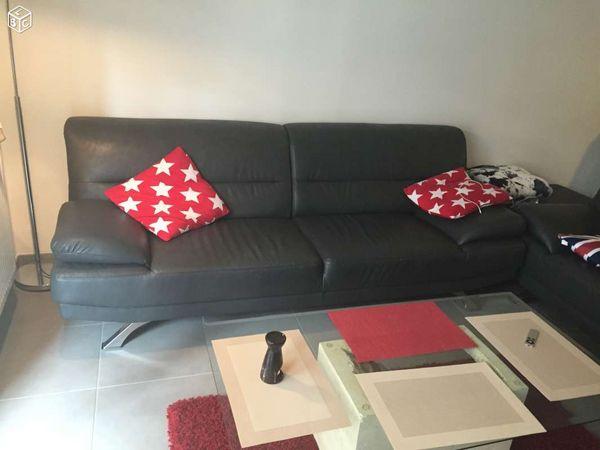 canap s simili cuir occasion strasbourg 67 annonces achat et vente de canap s simili cuir. Black Bedroom Furniture Sets. Home Design Ideas