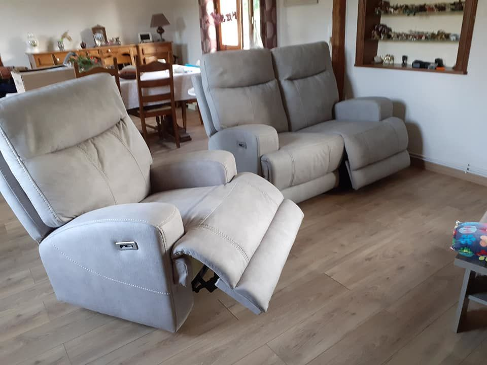 canapé 2 places relax + 1 fauteuil relax 1300 Contes (62)