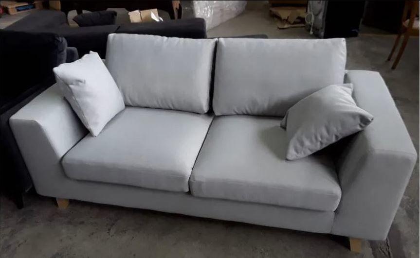 canapé 2/3 places tissu design gris clair neuf 300 Gradignan (33)