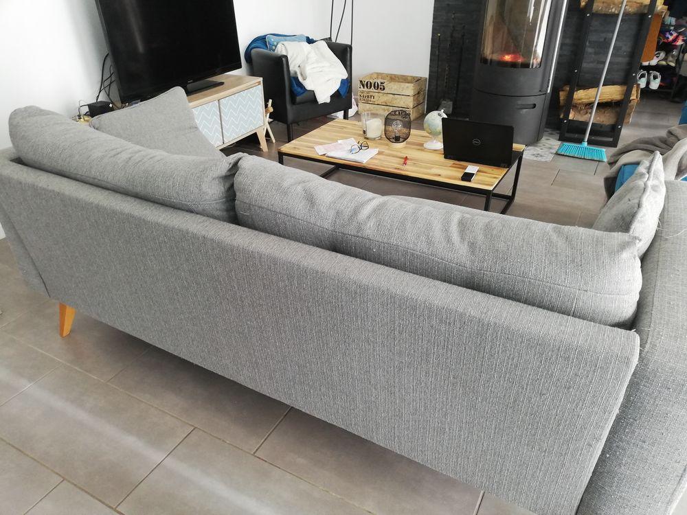 Canapé 3 places en tissu gris -modèle brooke_Maison du monde 110 Héricy (77)