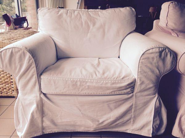 Canapé 3 places tissus + fauteuil tissus (EKTORP) 300 Tourcoing (59)