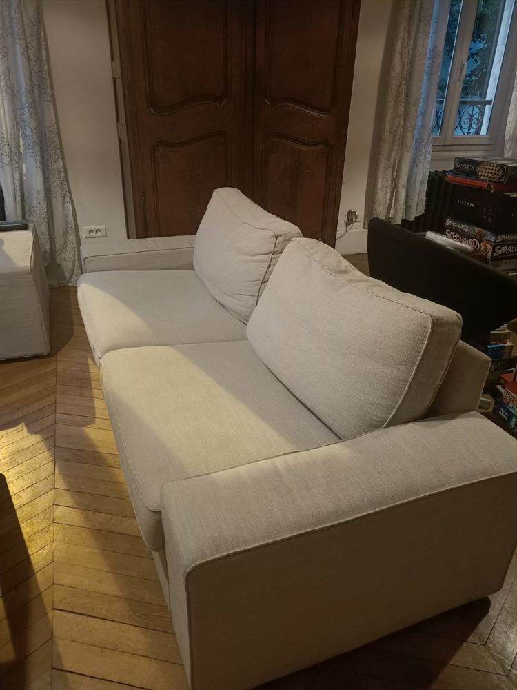 Canape 3 places tissus beige KIVIK 350 Montreuil (93)
