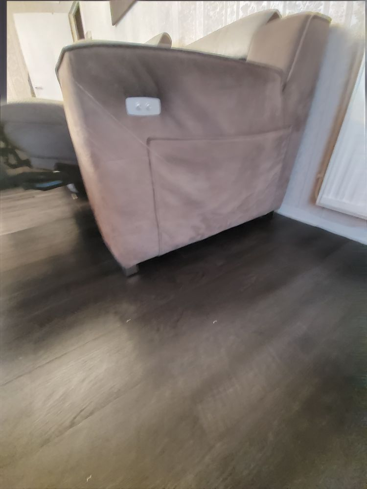 Canapé 4 places vrai cuir gris Meubles
