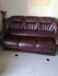 canapé plus 2 fauteuils assorti marron cuir  Sainte-Livrade-sur-Lot (47)