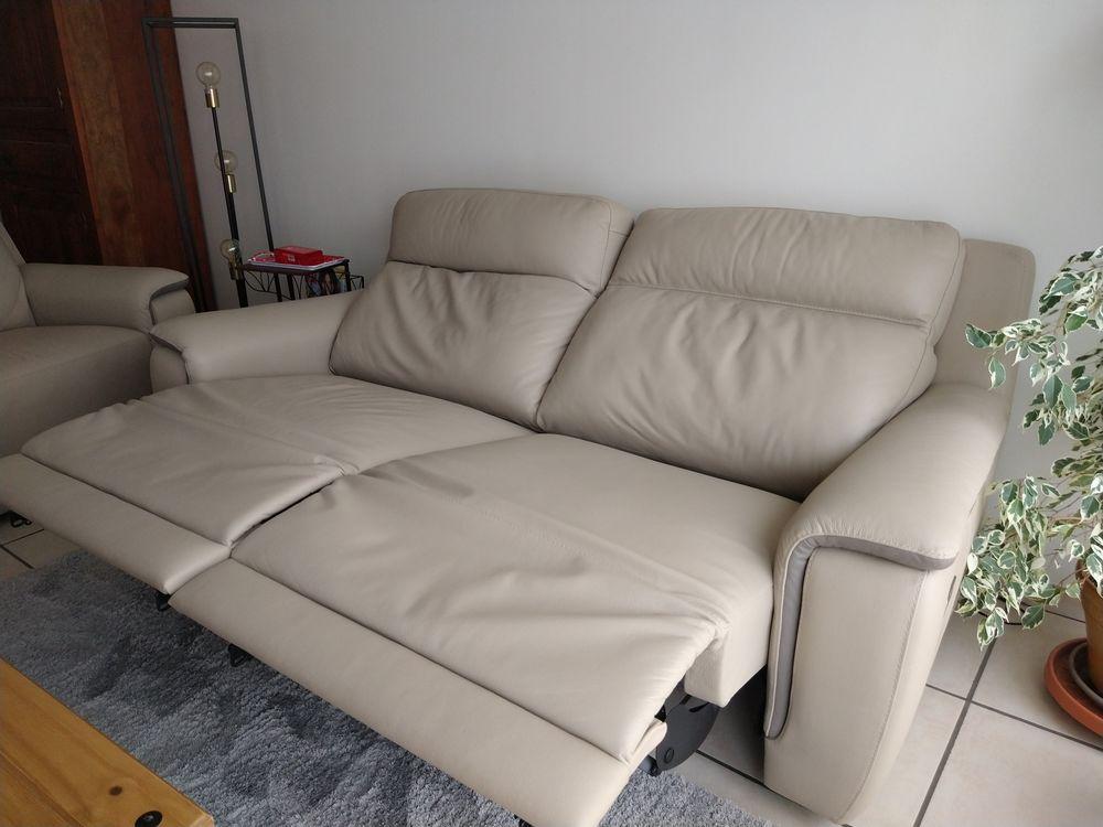 Canapé relax électrique en cuir 1200 Bourg-de-Péage (26)