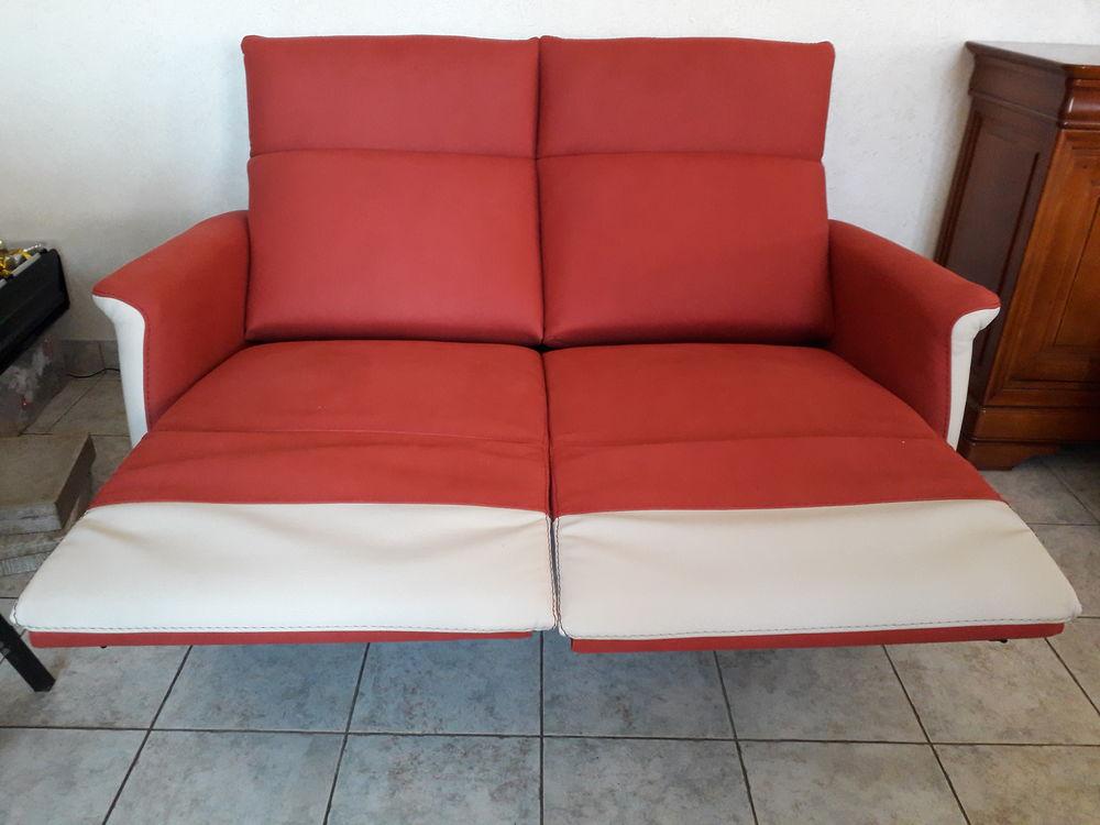 Canapé relax électrique en cuir neuf 1600 Gesté (49)