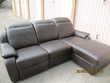 Canapé relax 3 places en cuir marron foncé Meubles
