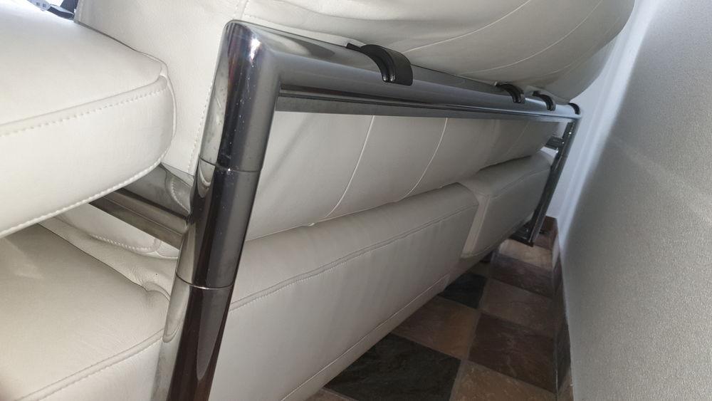 Canapé Rolf Benz Chrome et cuir plongé blanc  2500 Saint-Gingolph (74)