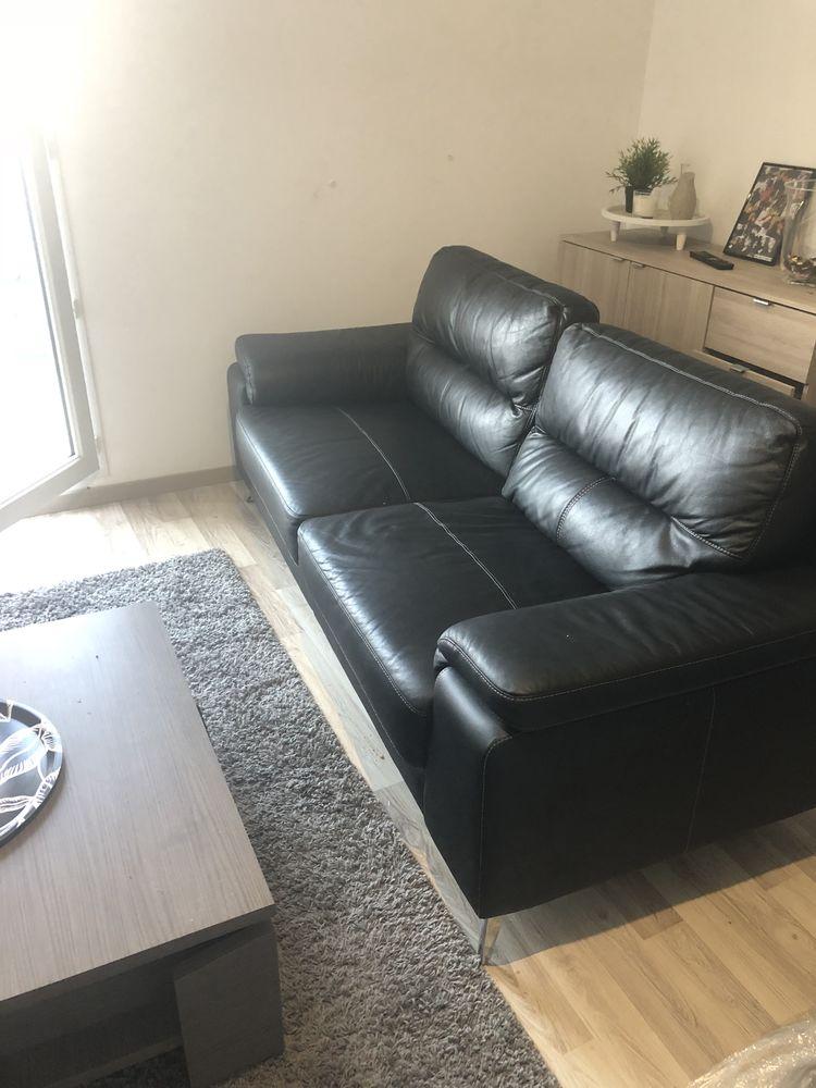 canapé similicuir noir  0 Orléans (45)