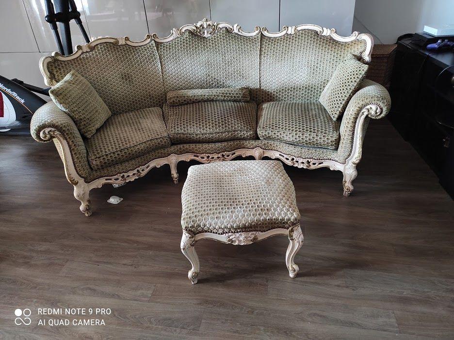 Canapé 3P + tabouret de Style Baroque Rococo  Louis XV.  550 Bezons (95)