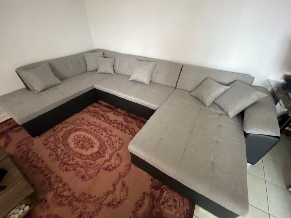 Canapé U en tissu gris clair  620 Lille (59)