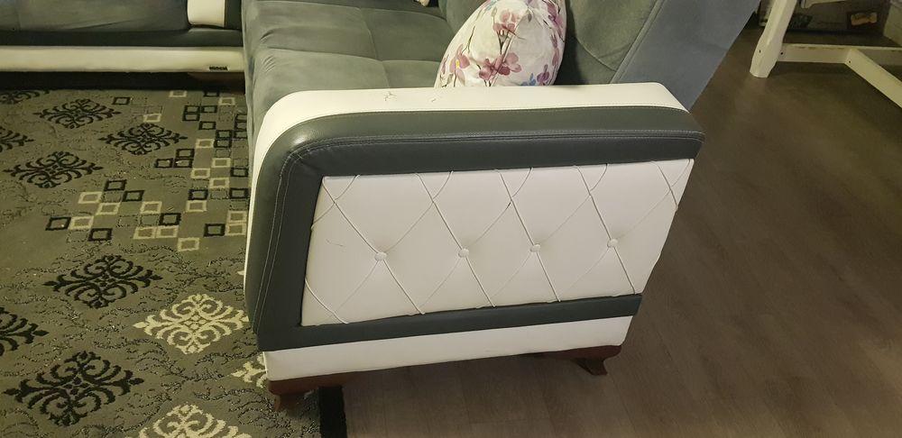 Canapé en tissu gris et cuir  0 Wattrelos (59)