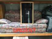 Canapé-lit en tissu.  130 Parthenay (79)
