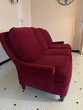 canapé tissus rouge Etat neuf Occasion Meubles