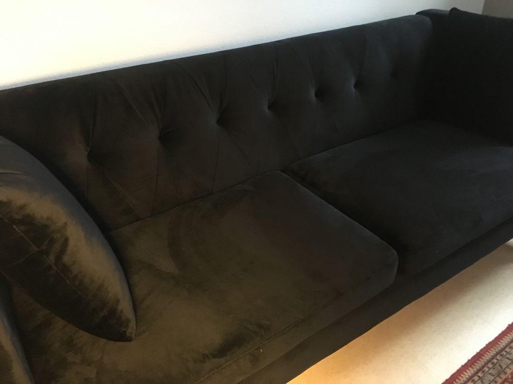 Canapé velours noir 0 Annecy (74)