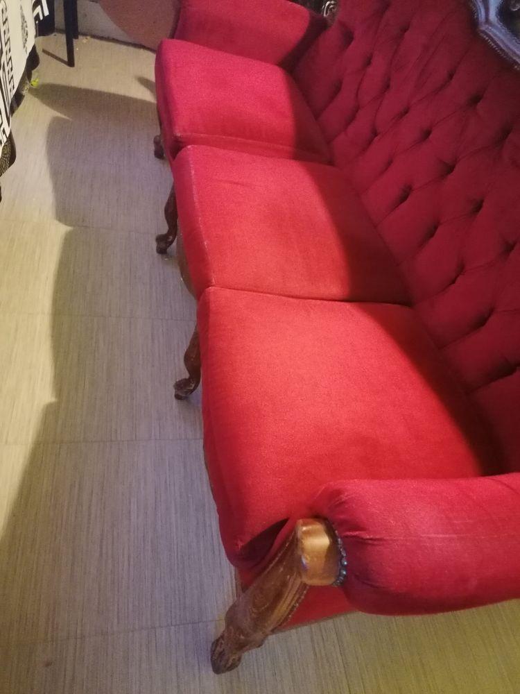Canapé vintage bordeaux plus deux grands fauteuils  0 Aubervilliers (93)