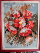 canevas fleurs 46x37 encadre 50 Amélie-les-Bains-Palalda (66)