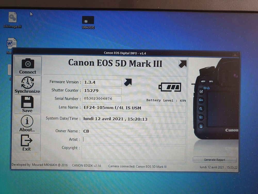 CANON 5d Mark III + 24/105 F4 L IS USM + 50mm F 1.4 Photos/Video/TV