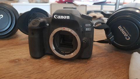 Canon 80D + ses objectifs (ensemble ou séparément) 600 Hergnies (59)