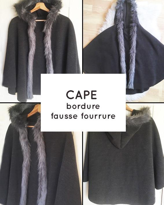 Cape grise fausse fourrure 20 Marcq-en-Barœul (59)