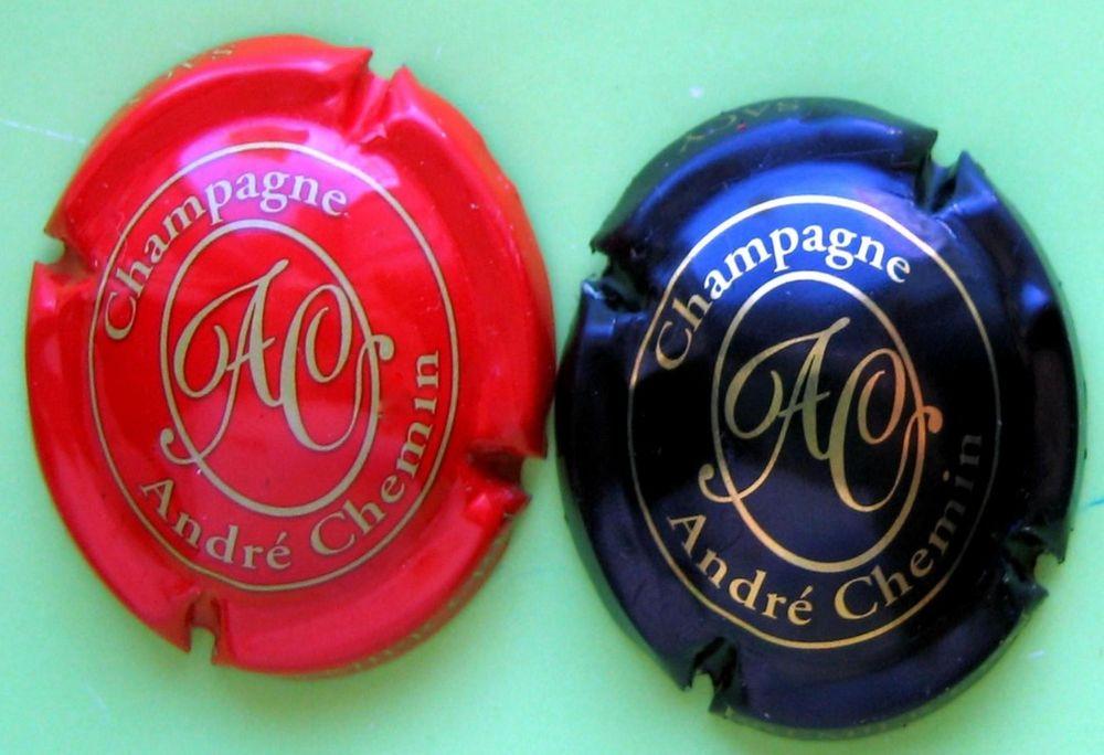 Lot de 2  capsules de champage CHEMIN  André 1 Vaison-la-Romaine (84)