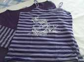 Caraco rayé violet et blanc et son gilet  7 Pont-Péan (35)
