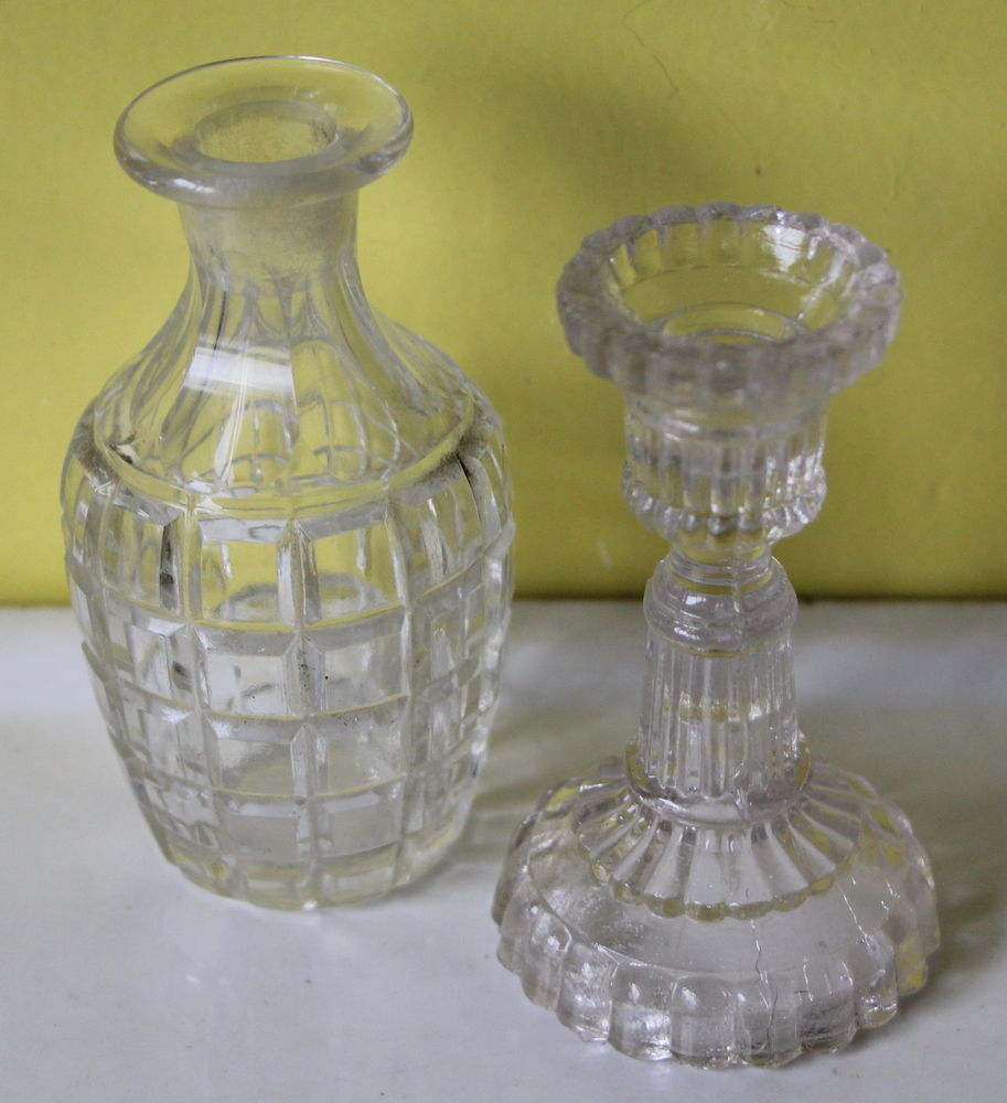 Carafe bouteille bougeoir dinette ancienne portieux? 30 Issy-les-Moulineaux (92)